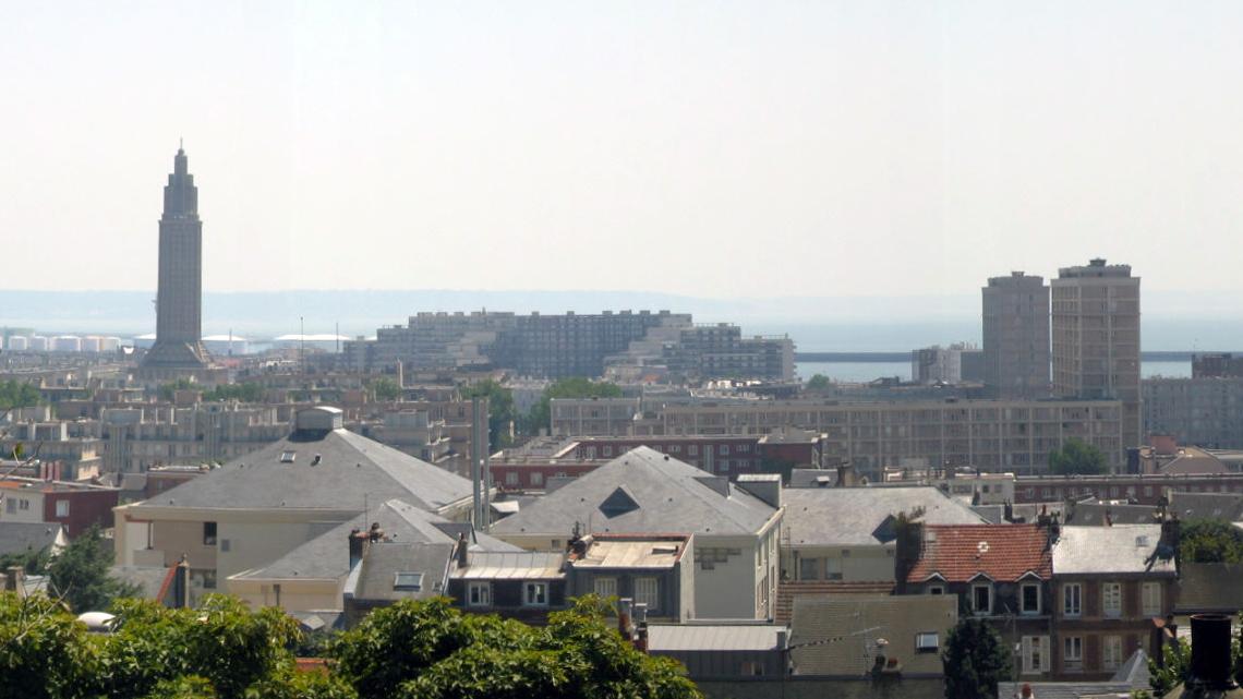 Panorama de la ville du Havre en Normandie